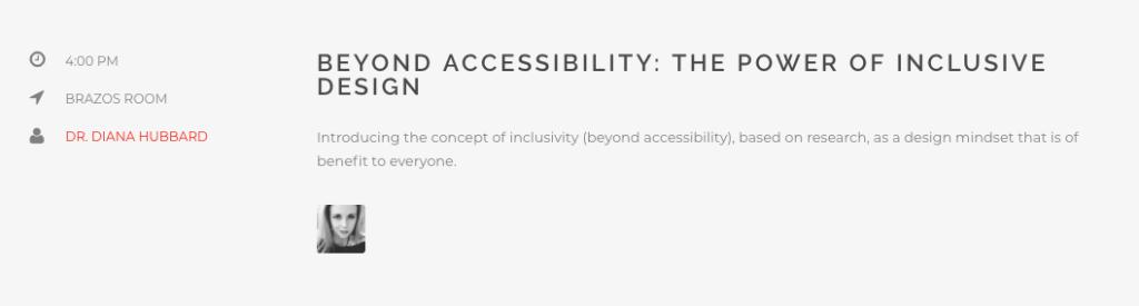 Inclusive design presentation