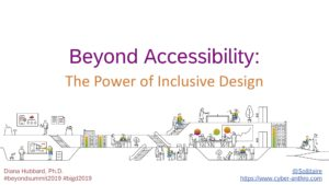 Title screen of Beyond Accessibility presentation